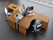 Ahşap personel masası