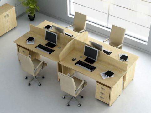 Minimalist ofis çalışma masası, personel masaları
