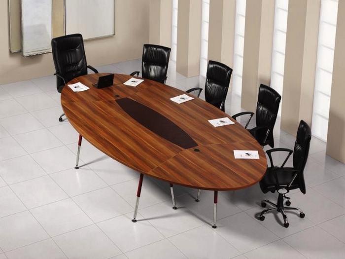 Elips toplantı ofis mobilyası