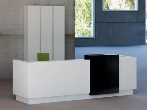 Stil ofis karşılama banko mobilyası