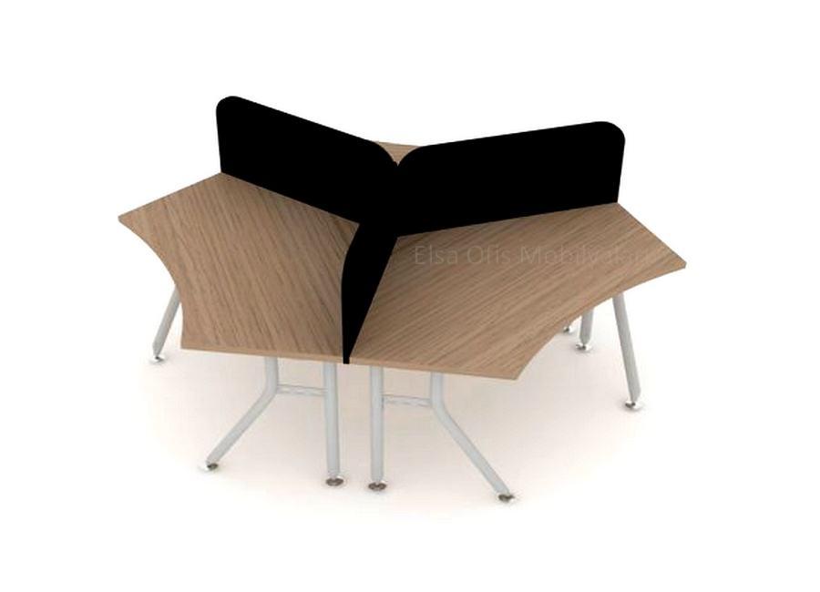 Üçlü ofis masası
