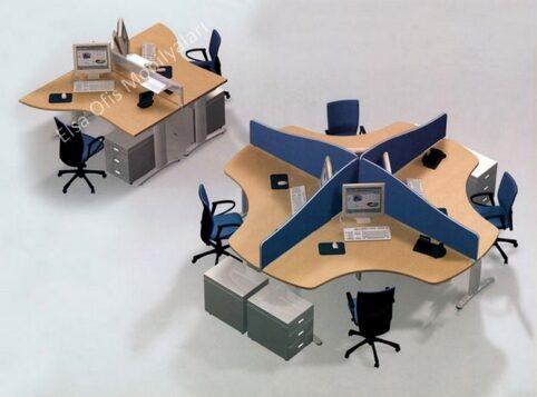 Yonca büro mobilyası masası